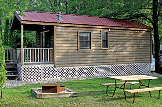 A rental cabin at Stateline Campresort & Cabins