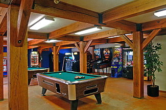 Game room at Stateline Campresort & Cabins