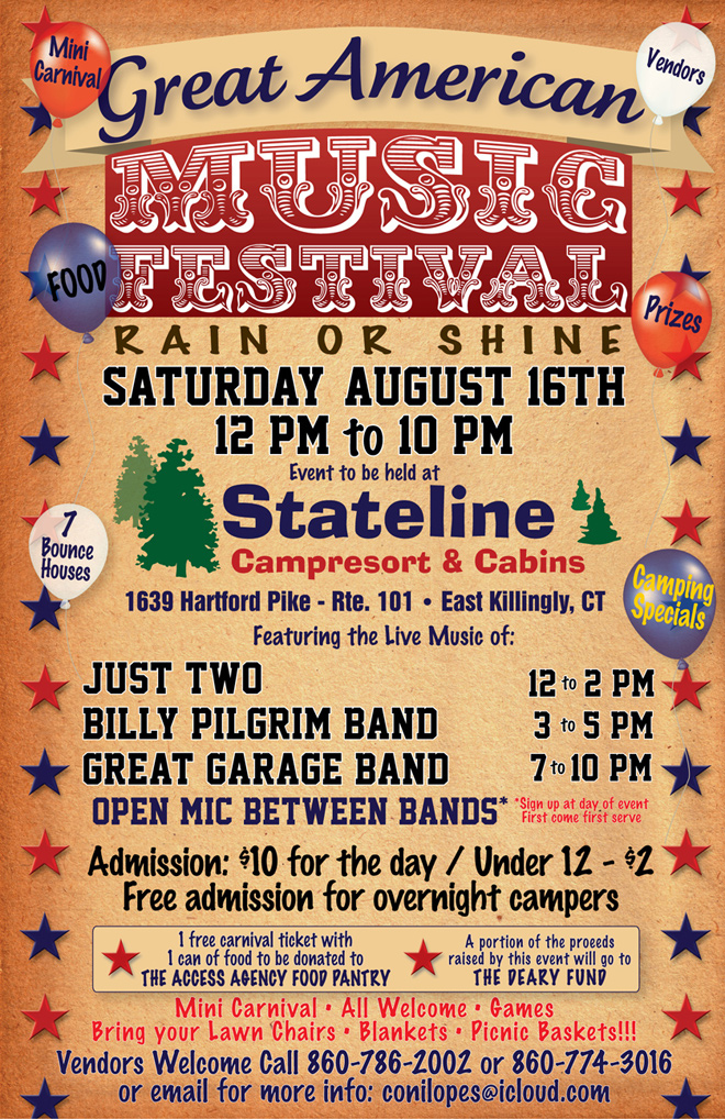 The Great American Music Festival, August 16, 2014 at Stateline Campresort