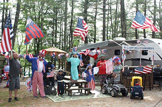 The Fourth of July spirit at Stateline Campresort & Cabins