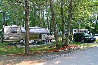 A spacious campsite at Stateline Campresort & Cabins