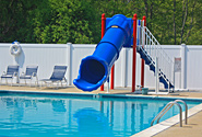 New pool slide at Stateline Campresort & Cabins